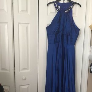 Royal blue formal dress xl or 1x person, fit great